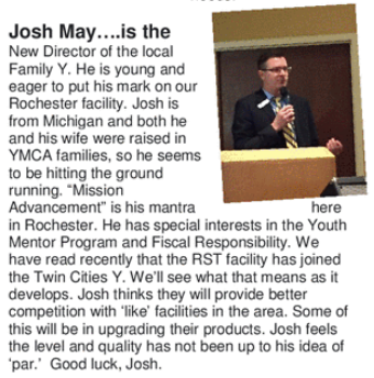 Josh May: Y's New Executive Director